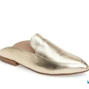 NWT CL Laundry Gold Mules